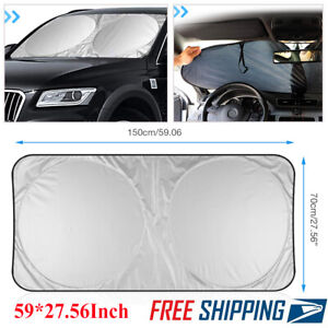 Large Size Foldable Truck Van Suv Car Sun Shade Windshield Visor Block Cover Usa