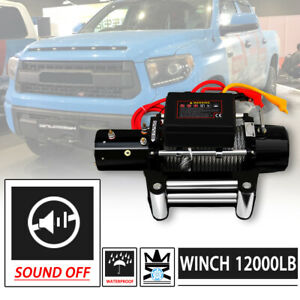 Win 2x 12000lbs Dc 12v Electric Mute Auto Brake Ip67 Waterproof Winch Kit