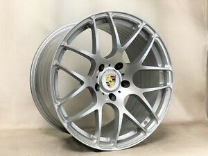 19 Inch Porsche 911 Carrera 996 997 Ruger Forged Wheels Rims Silver 5x130 Lugs
