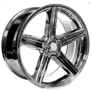 4ea 22x8 5 Iroc Wheels Chrome 5 Lugs Rims S45
