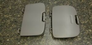 99 03 Ford F 150 F150 Overhead Console Sunglass Storage Door Cover Pair Gray