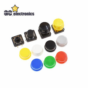 Momentary Tactile Push Button Touch Micro Switch 4p Pcb Caps 12x12x7 3mm 12mm