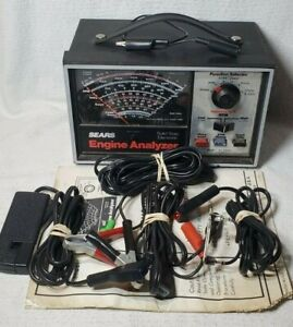 Sears Craftsman 28 21423 Professional Engine Analyzer W Accessories Cables