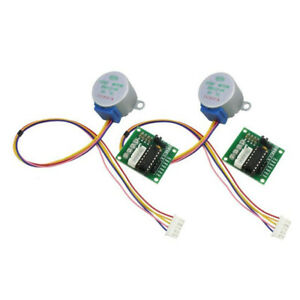 2x Dc 5v Stepper Motor 28byj 48 uln2003 Driver Test Module Board Fit For Arduino