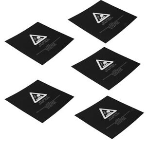 5x For 3d Printer Plate Heat Bed Build Stickers Surface Plate Sheet 220x220mm