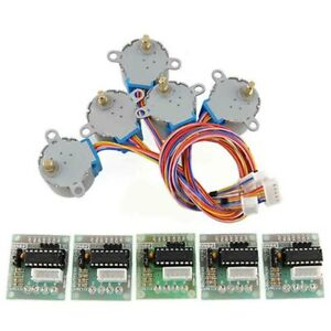 Dc 5v 4 phase Led Stepper Motors W Driver Test Module Boards Set For Arduino