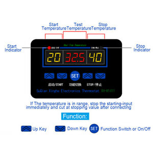 Xh w1411 12v 220v Digital Led Temperature Controller Thermostat Control Switch