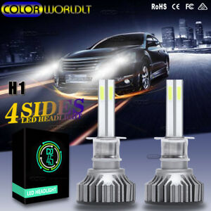 4 sides H1 Led Car Headlight 120w High Low Beam 6000k White Upgrade Bulbs canbus