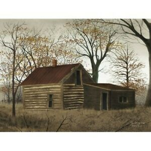 New Billy Jacobs old Log Home Picture Cabin House Wall Hanging