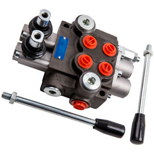 Hydraulic Directional Control Valve Tractor Loader joystick 2 Spool 11 Gpm New