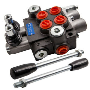 2 Spool Hydraulic Control Valve 13 Gpm 3600 Psi Applications For Log Splitters