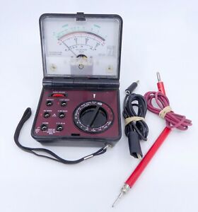 Micronta Folding Mutitester 22 211 Ohms Tester Hand Held Analog W leads Tested