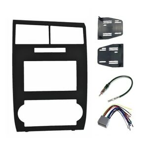 Double Din Dash Radio Stereo Kit Bundle Install Fits 05 07 Dodge Charger Magnum