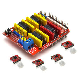 Cnc Shield Board A4988 Stepper Motor Driver For Arduino V3 Dc 12v To 36v