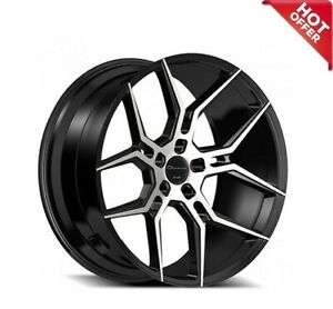 4ea 20 Staggered Giovanna Wheels Haleb Black Machined Rims Set s8
