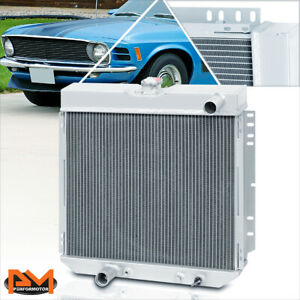 For 69 70 Ford Mustang 71 73 Mercury Comet L6 v8 Aluminum 3 row Cooling Radiator