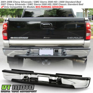 2001 2006 Chevy Silverado 2500 Hd 3500 W o Sensor Hole Chrome Rear Step Bumper