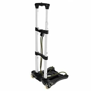 Luggage Carts With Wheels Lightweight Aluminum Collapsible Hand Cart Black