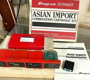 4 Cartridges Manual Asian Cars 1983 2003 For Snap On Mt2500 Scanner