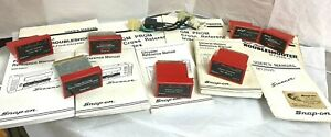 7 Cartridges 9 Manuals For Snap On Scanner Mt2500 Domestic Vehicle 1980 1 2 2001