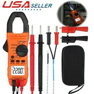 Digital Multimeter Ncv Ac dc Voltage Current Resistance Clamp Meter Tester Usa