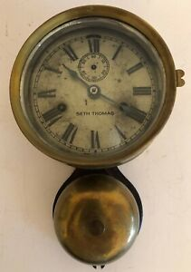 Seth Thomas Brass Ship S Clock With Outside Bell