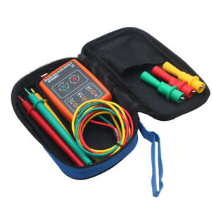 Tester Test Bag Measuring Sm852b 3 Phase Sequence Rotation Led Durable