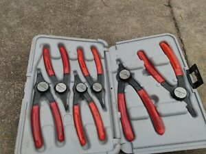 Snap On Prh406 Convertible Retaining Ring Pliers Complete Set Of 6 With Case
