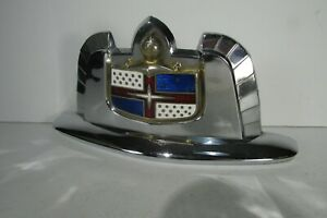 1950 1951 Lincoln Hood Emblem Outstanding Great Chrome Super Piece
