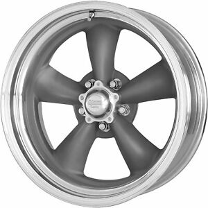4 17x8 Gray Wheel American Racing Vintage Classic Torq Thrust Ii Vn215 5x