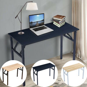 Wooden Desktop Folding Computer Desk Portable Small Pc Gaming Table Office Desk