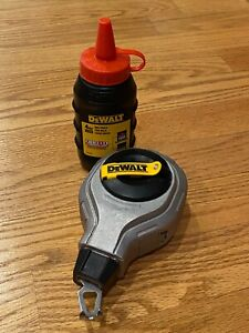 Dewalt Chalk Reel Red Refill 100 Marking Tool Preowned Great Condition