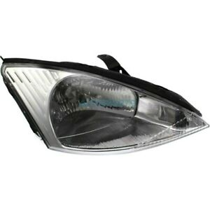 New Right Halogen Head Lamp Assembly Fits 2000 2002 Ford Focus Fo2503171