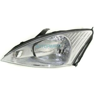 New Left Halogen Head Lamp Assembly Fits 2000 2002 Ford Focus Fo2502171
