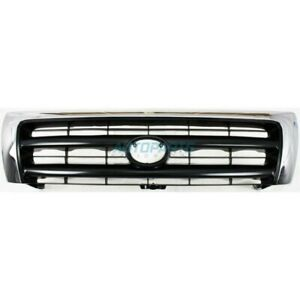 New Grille Chrome Shell Fits 1998 2000 Toyota Tacoma To1200213 5310004100