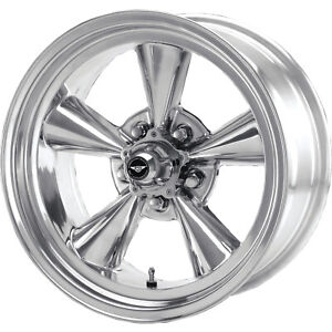 4 15x7 Polished American Racing Vintage Torq Thrust Wheel 5x4 75 5x120 65 6