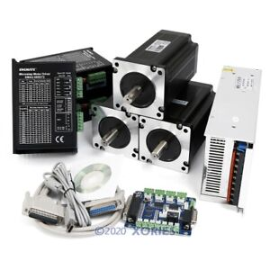 Cnc 3 Axis Controller Kit Nema34 12n m Stepper Motor Digital Stepper Driver