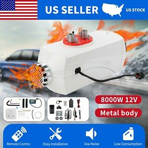 8kw Air Diesel Fuel Heater 12v Metal White Lcd Switch For Car Truck Boat Bus Car