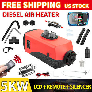 5kw 12v Diesel Air Heater Thermostat With Lcd Switch For Car Truck Boat Bus Van