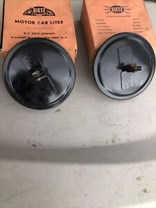 1930s Through 1940s Chevy Ford Dodge Dietz Mirror Heads In Box New Old Stock