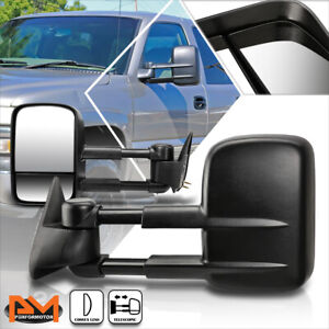 For 99 06 Chevy Gmc Gmt800 Dual Arm Manual Telescopic Foldable Towing Mirrors
