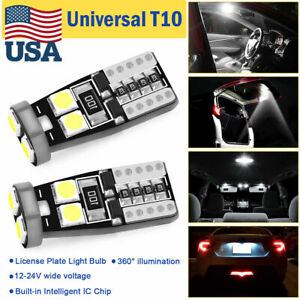 2pcs 12v T10 921 194 Warm White Rv Trailer 6 smd Backup Reverse Led Light Bulbs