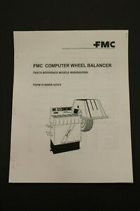 Fmc John Bean 5800 5850 5855 Computer Wheel Balancer Parts Reference Manual