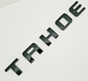 1pc Black Tahoe Fit Chevy Rear Trunk Tailgate Emblem Badge Decal Nameplate