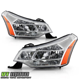 2008 2011 Ford Focus S Se Ses Sel Factory Headlights Headlamps Left Right