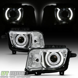 Halogen Type 2010 2013 Chevy Camaro Led Ccfl Halo Projector Headlights Headlamps