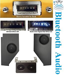 1947 1953 Chevy Gmc Truck Bluetooth Stereo Radio Dash Speaker Kick Panels 740