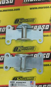Moroso 62630 Chevy Steel Frame Pad Mounts Bolt On 1973 90 Chevy Apps 1 Pair