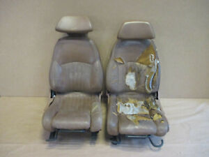 88 91 Firebird Gta Trans Am Tan Leather Seat Seats Front Core 1027 95