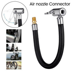 10cm Car Air Tyre Chuck Inflator Pump Extension Hose Adapter Pipe Tool Extension